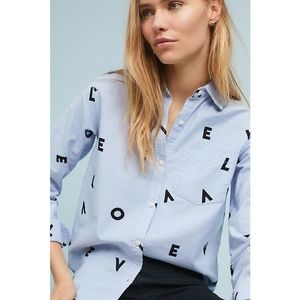 Current Elliott Blue Chambray Button-Up Top 3